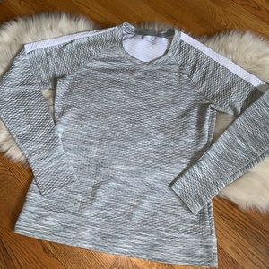 Athleta gray quilted sweatshirt pullover size M